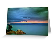 Great Oyster Bay Sunset, Tasmania Greeting Card
