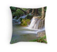 Krengkavia waterfall, Thailand Throw Pillow