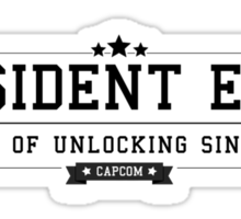 Resident Evil - Retro Black Clean Sticker
