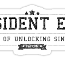 Resident Evil - Retro Black Dirty Sticker