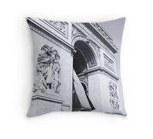 Le Arc De Triumph Throw Pillow