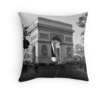 Le Arc De Triumph, Portrait Throw Pillow