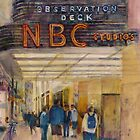 Rainbow Room New York City - Original Watercolor by Dorrie  Rifkin