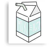 Milk Carton - light teal Canvas Print