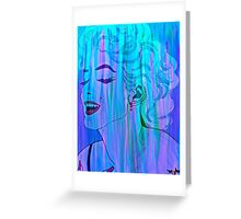 Marilyn Blue Abstract Greeting Card