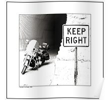 """Keep Right"" Poster"
