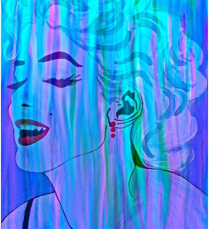 Marilyn Blue Abstract Sticker