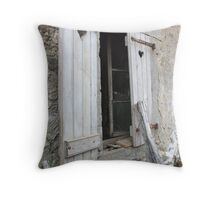 A shutters open kind of day Throw Pillow