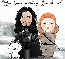 Kokeshis Jon and Ygritte GOT  by Pendientera