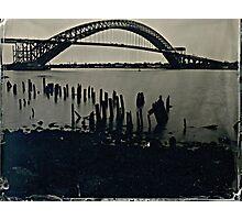 Bayonne Bridge, NJ. Tintype Photograph Photographic Print