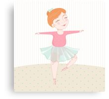Cute ballerina Canvas Print
