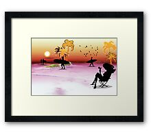 plage Framed Print