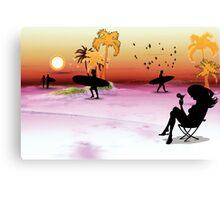 plage Canvas Print
