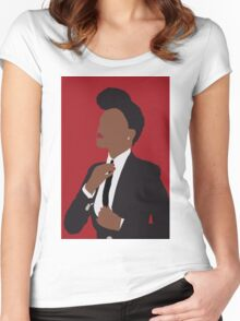 Janelle Monae Women's Fitted Scoop T-Shirt