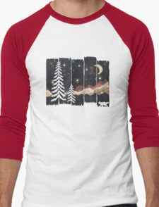 Starry Night in the Mountains... Men's Baseball ¾ T-Shirt