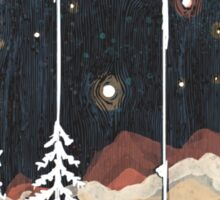 Starry Night in the Mountains... Sticker