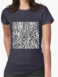 Zebra skin pattern Womens Fitted T-Shirt