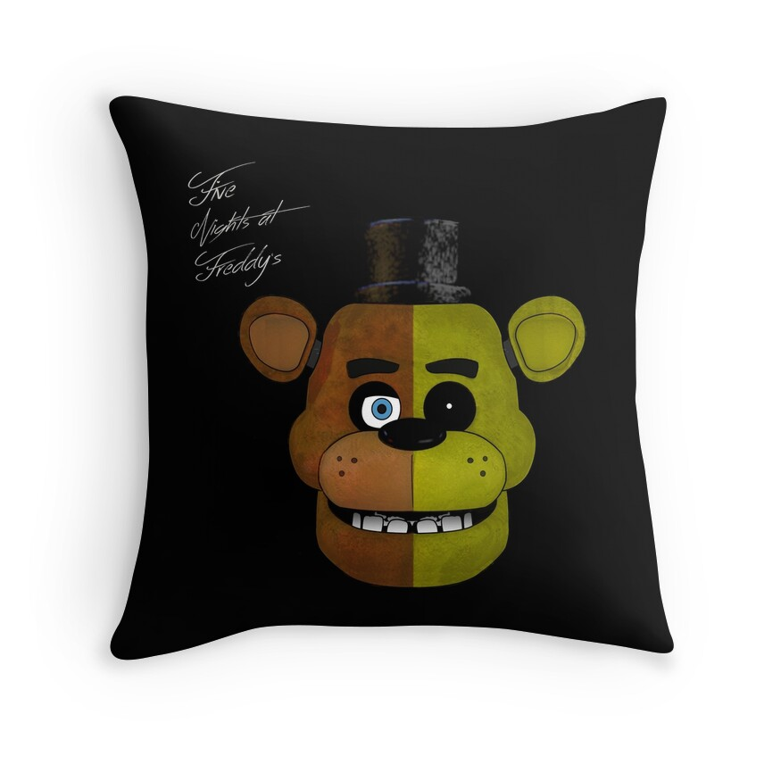 Quot Fnaf Quot Throw Pillows By Mauriciogarcia Redbubble