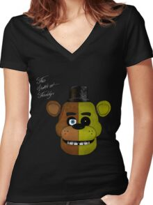FNaF Women's Fitted V-Neck T-Shirt