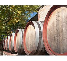 Yalumba Wine Barrels Photographic Print