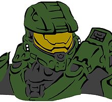 Master Chief Headshot Celtic Colored by KewlZidane