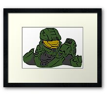 Master Chief Headshot Celtic Colored Framed Print