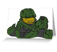 Master Chief Headshot Celtic Colored Greeting Card