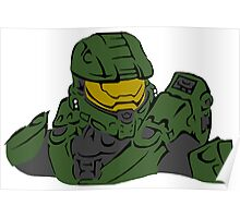 Master Chief Headshot Celtic Colored Poster