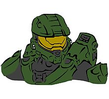 Master Chief Headshot Celtic Colored Photographic Print