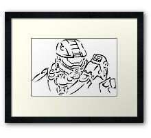 Master Chief Headshot Celtic Framed Print