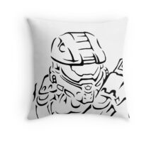 Master Chief Headshot Celtic Throw Pillow
