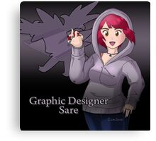 Graphic Designer Sare Canvas Print