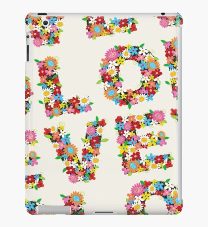 LOVE Spring Flowers iPad Case/Skin