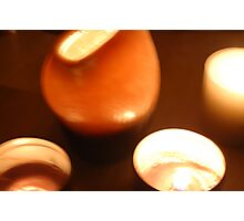 burning candles Photographic Print
