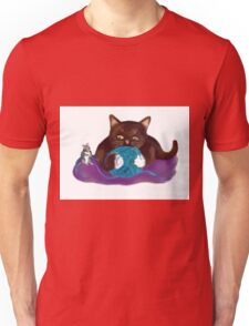 Blue Ball of Yarn for Mouse and Kitten Unisex T-Shirt
