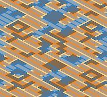 Geometric Lanes (Orange/Blue) by Simon04