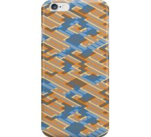 Geometric Lanes (Orange/Blue) iPhone Case/Skin