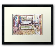 His Room Framed Print