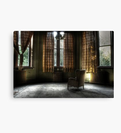 A lonely place to sit Canvas Print