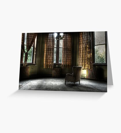 A lonely place to sit Greeting Card