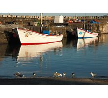 Fishing boats and seagulls Photographic Print