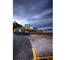 HDR Bus Stop Photographic Print