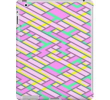 Geometric Lanes (Glam Pink/Yellow/Blue) iPad Case/Skin