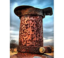 Rusted Exhaust - HDR Photographic Print