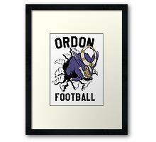 ORDON FOOTBALL Framed Print