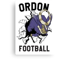 ORDON FOOTBALL Canvas Print