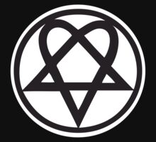 Heartagram - Black on White by PommyKaine
