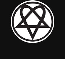 Heartagram - Black on White T-Shirt