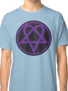 Heartagram - Purple on Black Classic T-Shirt
