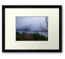 Misty Island Framed Print